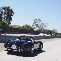 Cruising around with my bro in my 1966 all original 427 Shelby Cobra after a great weekend in LA! Heading to Santa Monica! #HamBros #SunnyCalifornia #TeamLH @nicolashamilton by lewishamilton