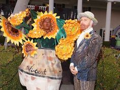 SUPERBLY CREATIVE: Vincent Van Gogh and his sunflower inspiration.