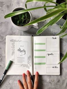 Really organized individuals will not be delivered organized , plants Bullet Journal Writing, Bullet Journal Monthly Spread, Bullet Journal 2020, Bullet Journal Aesthetic, Bullet Journal Ideas Pages, Bullet Journal Inspo, Bullet Journal Layout, My Journal, Journal Organization