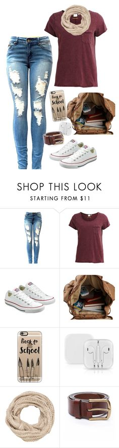 """Back To School"" by blondybecca ❤ liked on Polyvore featuring Object Collectors Item, Converse, Casetify and maurices"