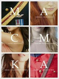 Maçom, America, Celeste, Marlee, Kriss, Aspen