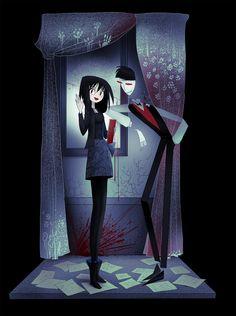 09 05 2017 by CottonValent on DeviantArt Arte Horror, Horror Art, Dibujos Dark, Character Art, Character Design, Funny Skeleton, Creepy Cat, Tim Burton Style, The Worst Witch