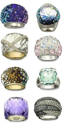 Swaroski beautiful rings