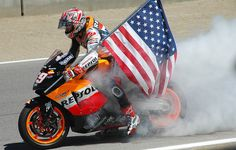 Nicky Hayden, Laguna Seca MotoGP, 2005 by john m flores, via Flickr