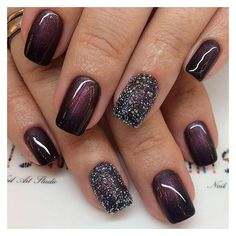 15 Unique and Beautiful Winter Nail Designs ❤ liked on Polyvore featuring beauty products and nail care