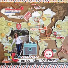12 Awesome Scrapbook Pages with MAPS! #vacationscrapbook