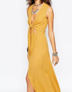 Image 3 ofWyldr Bow Front Maxi Dress
