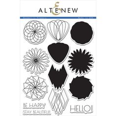 GEOMETRIC FLOWERS from Altenew... this set is pretty gorgeous.... $20.99