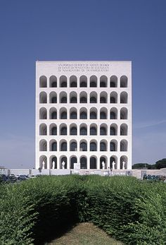 Architecture = repetition. The Palazzo delle Civilta Italiana by Giovanni Guerrini, Ernesto Bruno La Padula and Mario Romano (1938-43) by German photographer Hagen Stier.