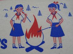 From a grade Bluebird, 'flying up' to be a Campfire Girl Sweet Memories, Childhood Memories, Bonbons Vintage, Bbq World, Peanut Clusters, Pack Up And Go, Oregon, Camping, Girl Guides