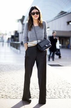 Le Fashion Blog Sydney Street Style Cropped Sweater Silk Top Wide Leg Pants Chanel Cross Body Bag Work Wear Via Street Peeper photo Le-Fashion-Blog-Sydney-Street-Style-Cropped-Sweater-Silk-Top-Wide-Leg-Pants-Chanel-Cross-Body-Bag-Work-Wear-Via-Street-Peeper-2.jpg