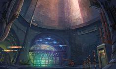 大成建設 CM アニメ 「ボスポラス海峡トンネル」篇-トンネル工事現場・完成美術(2095x1254px)