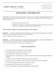 Good Customer Service Objective For Resume Examples