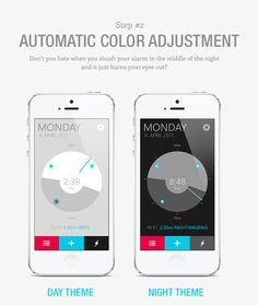 Alarm Clock App by Samuel Bednár, via Behance