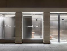 Acne Studios continues steel-clad store concept speckled by Max Lamb in Munich - News - Frameweb