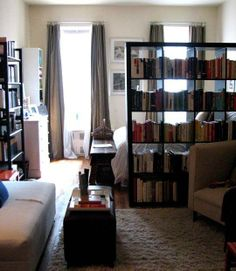Inspiration: Using a Bookcase as a Room Divider