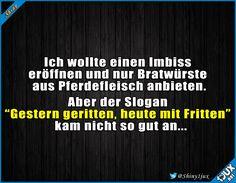 Vielleicht doch lieber ein anderer Slogan? #Witz #Witze #Spaß #Spass #schwarzerHumor #Humor