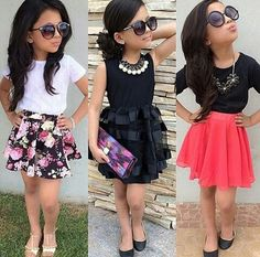 Designer Kids Wear For Boys and Girls - WlBuddy Little Girl Outfits, Cute Outfits For Kids, Little Girl Fashion, Toddler Outfits, Pretty Outfits, Toddler Girl Style, Toddler Fashion, Kids Fashion, Fashion Niños