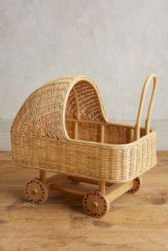 Anthropologie Wicker Play Pram for kids affiliate Minions, Dolls Prams, Pram Stroller, Baby Bassinet, Childrens Gifts, Montessori Toys, Kids Decor, Basket Weaving, Woven Baskets