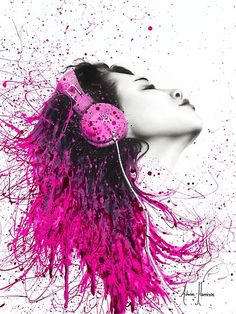 Pink Headphones Photographic Print by Ashvin Harrison headphone photoraphy Pink Headphones, Ballet Drawings, Artsy Photos, Abstract Canvas Art, Creative Advertising, Creative Portraits, Australian Artists, Artwork Prints, Beautiful Images