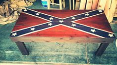 Confederate flag coffee table by RossWoodenCreations on Etsy