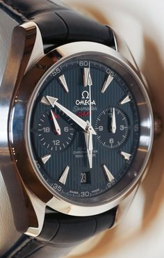 Omega Aqua Terra Chronograph GMT Watch Hands On omega $9k