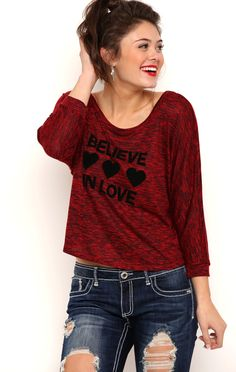 Deb Shops High Low Dolman Sleeve Top with Lace Panel Back $10.75