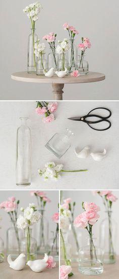 DIY Glass Bottle Set centrepiece