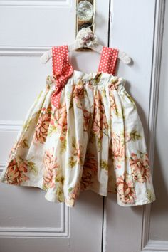 3T Tangerine Floral Sunny Day Dress by FricketyFrocks on Etsy, $42.00
