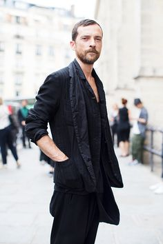 The Sartorialist - all black casual look