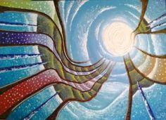 Arco-iris de Juan Sebastián  Óleo sobre lienzo 80 cm * 50 Ago-2013 Painting, Art, Bow Braid, Oil On Canvas, Canvases, Pintura, Art Background, Painting Art, Kunst