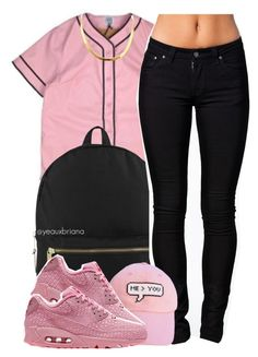 """""""oui // jeremih"""" by yeauxbriana on Polyvore featuring Herschel Supply Co., Nudie Jeans Co., me you and NIKE"""