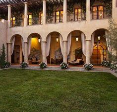 "The Magnificent 57 Million Dollar Peabody Estate ""Solana"", Santa Barbara CA Hacienda Style Homes, Spanish Style Homes, Spanish House, Peabody Estate, Casa Patio, Mansions For Sale, Mediterranean Homes, Decoration Design, Neoclassical"