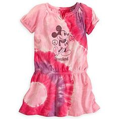 Mickey Mouse Tie Dye Dress for Girls - Disneyland   Disney StoreMickey Mouse Tie Dye Dress for Girls - Disneyland - Mickey offers a flashback to the flower-power era with this authentic tie-dye dress made of soft jersey knit, with a modern touch of decorative sparkle.