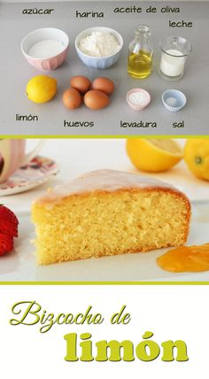 Zitronen-Biskuit, perfekt zum Frühstück oder als Snack. Bakery Recipes, Cookie Recipes, Dessert Recipes, Food Cakes, Cupcake Cakes, Lemon Sponge Cake, Comida Diy, Tasty, Yummy Food