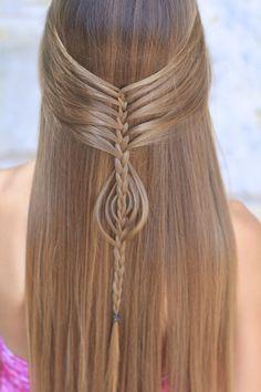 Gorgeous! Looks like mermaid hair! #hairstyles #hairstyle #cutegirlshairstyles #mermaid #mermaidhair #CGHmermaidbraidcombo #braid #mermaidbraid