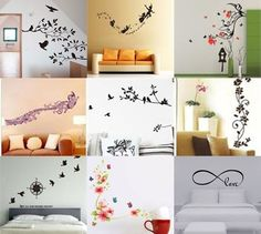 DIY Wall Sticker Vinyl Removable Decal Bird Lily Heart Room background Wall Art #Unbrand