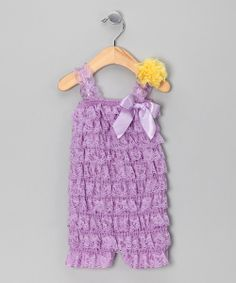 Take a look at the Lavender Ruffle Romper Set - Infant & Toddler on #zulily today!