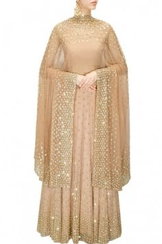 Buy Peach shimmer lehenga set by Astha Narang online in India at best price.Featuring a peach net kalidaar lehenga embellished with nakshi and sequins hand-embroidery. Dress Indian Style, Indian Dresses, Indian Outfits, Indian Wear, Latest Designer Sarees, Indian Designer Outfits, Indian Designers, Salwar Kameez, Fashion Bazaar