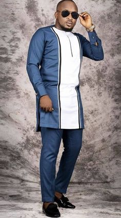 African men clothing, African wedding suit, African groom suit, African fashion, shirt and pant. African Male Suits, African Shirts For Men, African Wear Dresses, African Attire For Men, African Clothing For Men, Nigerian Men Fashion, African Men Fashion, Ankara Fashion, African Women