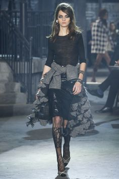 Would love a view of this jacket worn on her as well. Love this variation of ruffles. ~Chanel Pre-Fall 2016 Fashion Show