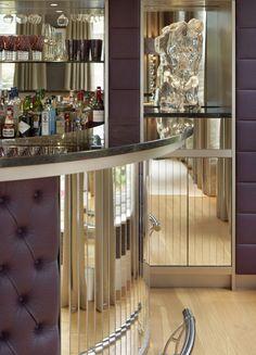 Award shortlisted interior design and bespoke furniture. Home Bar Table, Home Bar Decor, Interior Design Examples, Luxury Interior Design, Design Ideas, Mid Century Bar Cabinet, Small Restaurant Design, Bar Counter Design, Game Room Bar