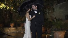 "Rain or shine, Mary and Rocco were getting married! Prince Weddings Photographer Thamer Bajjali captured all of the day's events while cinematographer Nathan Prince, along with cinema assistant Jamie, got it on video. The ceremony was held at St. John Baptist de laSalle. After the ceremony concluded and Rocco and Mary said ""I do,"" the party moved to The Odyssey Restaurant. Despite the rain, Thamer and Nathan were able to get of some great shots. Mary and Rocco were so much fun to work with…"
