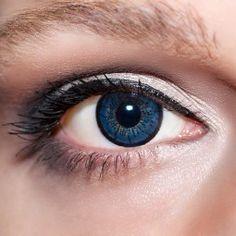 Blaue Kontaktlinsen farbige dunkelblaue Linsen von KwikSibs, Königsblaue 2-farbig auch mit Stärken