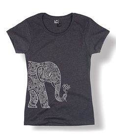 Another great find on #zulily! Heather Charcoal Lotus Elephant Tee #zulilyfinds