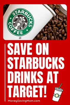 Check out how you can get some sweet coupon savings at Target, including even Starbucks beverages! It's all right on the Target Circle app! No searching or clipping coupons needed! Starbucks Coupon, Starbucks Gift Card, Starbucks Drinks, Circle App, Starbucks Locations, Paying Off Credit Cards, Money Saving Mom, Budgeting Finances, Extra Money