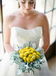 billy button wedding bouquet