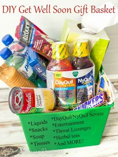 Do it yourself gift basket ideas for all occasions pinterest get well soon gift basket ideas reliefishere solutioingenieria Gallery