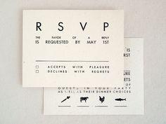 Modern Rustic Wedding Invitation Kraft by seabornpress on Etsy