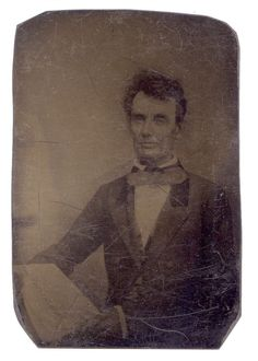 Rare Tintype of Abraham Lincoln photographed on July 1858 in the Studio of J.C.F. Polycarpus Von Schneidau, Chicago, Illinois. Fantastic early photograph of Lincoln in this format/process. *s*